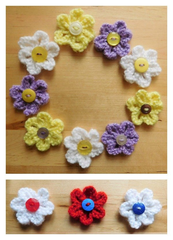 Knitted Summer Flowers Free Pattern Cool Creativities