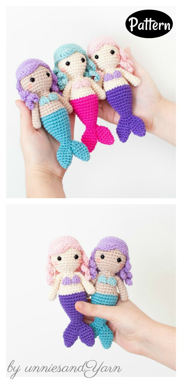Ravelry: Ariel Little Mermaid Amigurumi pattern by Chiara Cremon | 1260x600