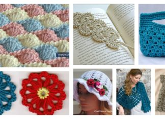 Beautiful Shell Stitch Crochet Free Patterns and Projects