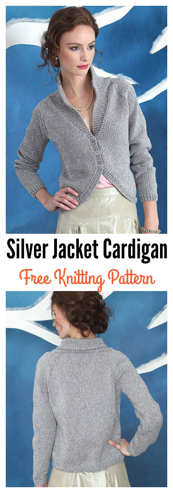 Silver Jacket Cardigan Free Knitting Pattern