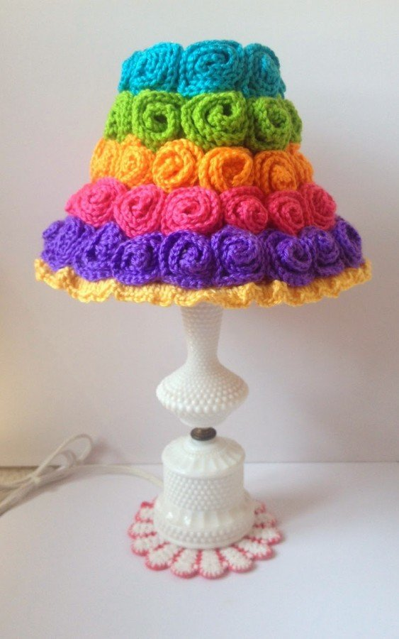 Free Pattern Crochet Lampshade : Crochet Lampshade Free Patterns and Ideas