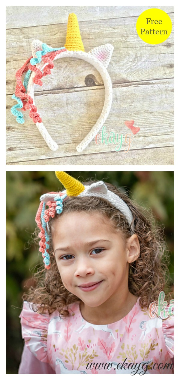 Unicorn Headband Free Crochet Pattern