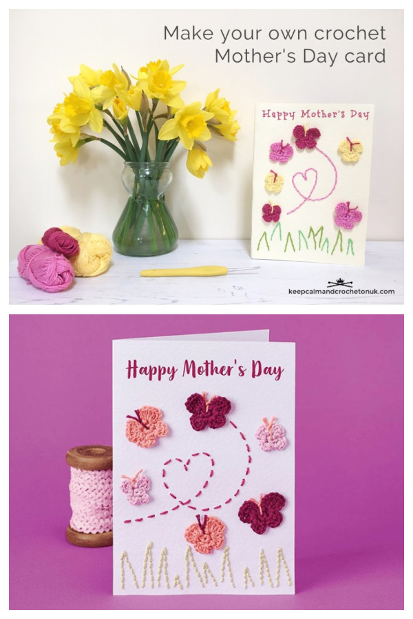 Wings of Love Mothers Day Greeting Card Free Crochet Pattern