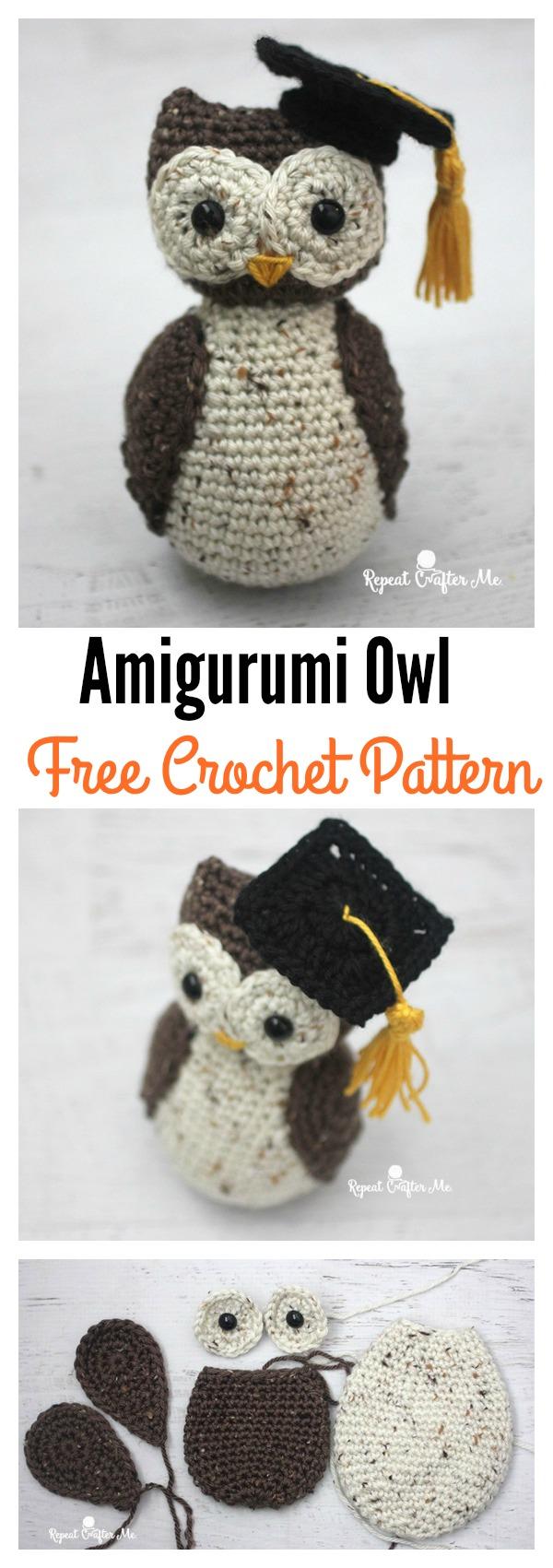 Free Crochet Pattern Amigurumi Graduation Owl