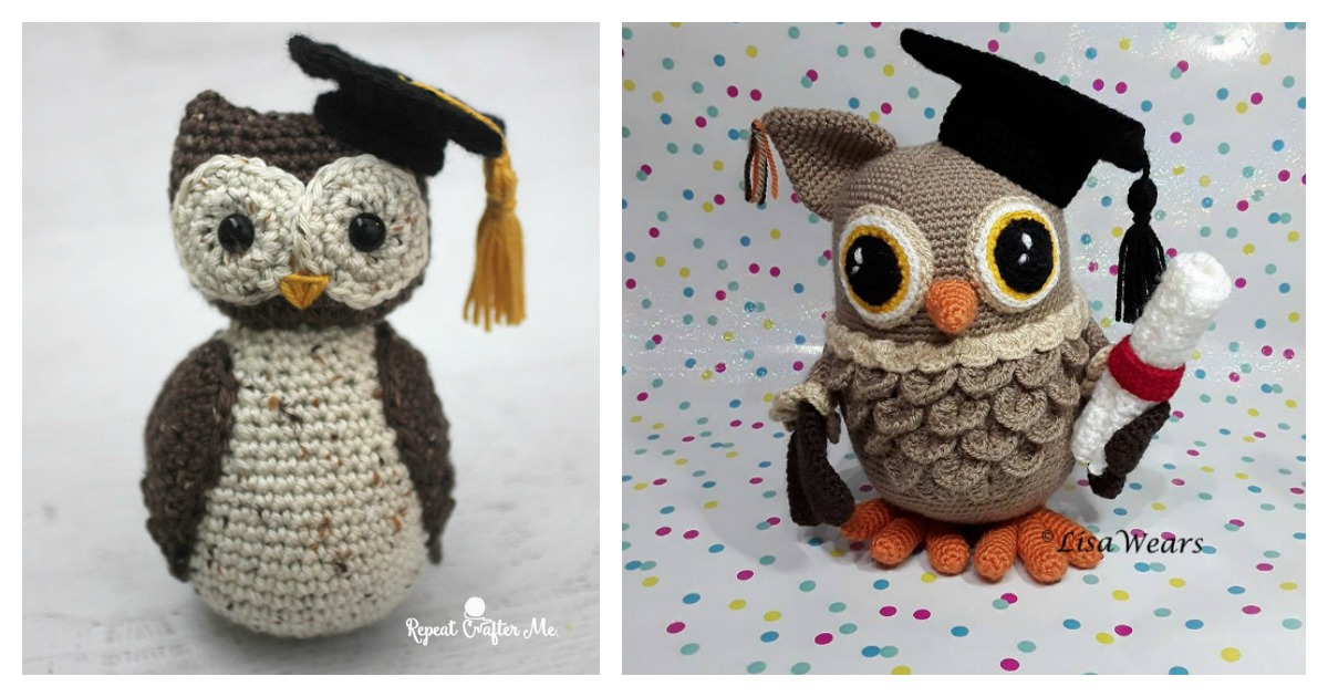 Free crochet pattern: Small amigurumi owls | 630x1200