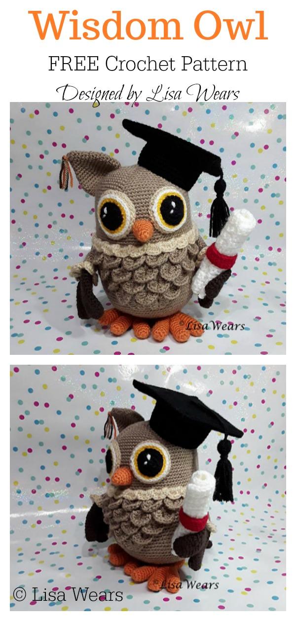 Amigurumi Wisdom the Graduation Owl Free Crochet Pattern