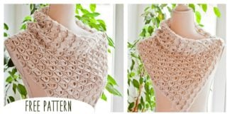 Broomstick Lace Cowl Free Pattern