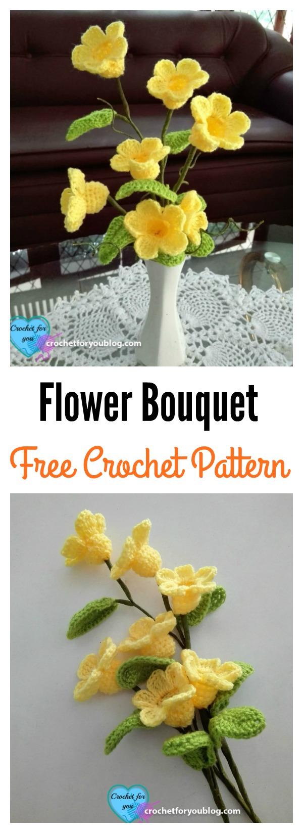 Crochet 3d flower bouquet free pattern izmirmasajfo