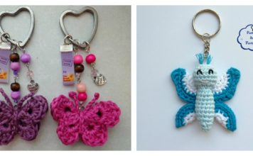 Crochet Butterfly Keychain Free Patterns