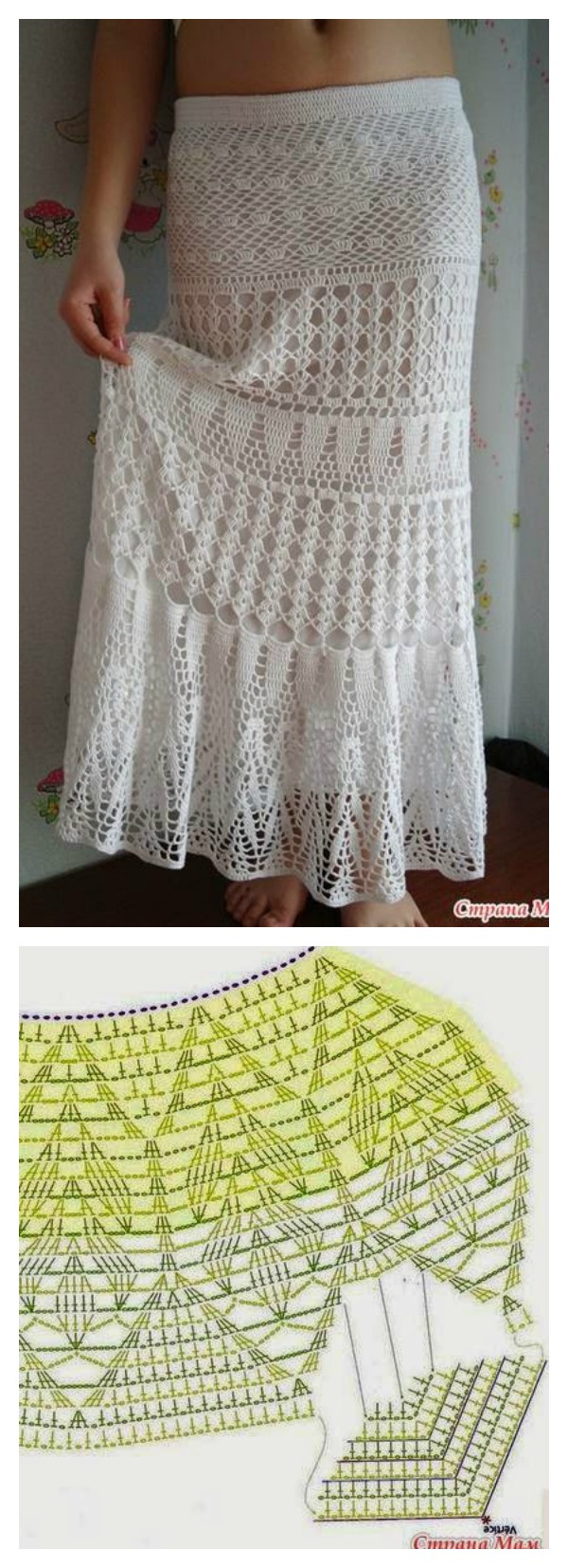 Free Crochet Pattern Maxi Skirt : Crochet Skirts Free Patterns