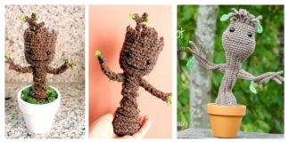 Crochet Potted Baby Groot Free Patterns