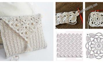 Pretty Crochet Handbag with Graphics