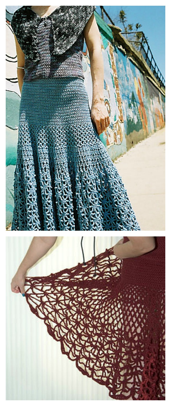 Crochet Spiderweb Maxi Skirt Free Pattern Cool Creativities