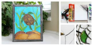 Faux Stained Glass DIY Canvas Painting