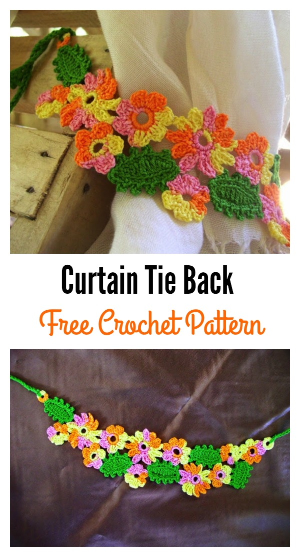 Flower Curtain Tie Back Free Crochet Patterns