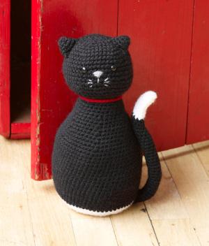 Free Amigurumi Black Crochet Cat Door Stopper Pattern
