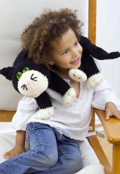 Free Cat Neck Pillow Crochet Pattern