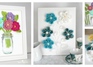 3D Wall Art Free Flower Crochet Patterns