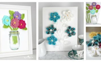 3D Wall Art Free Flower Crochet Patterns