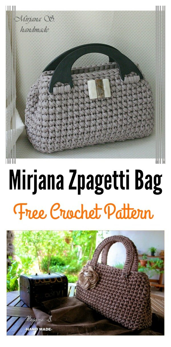 Free T Shirt Yarn Crochet Bag Crochet Pattern Cool Creativities