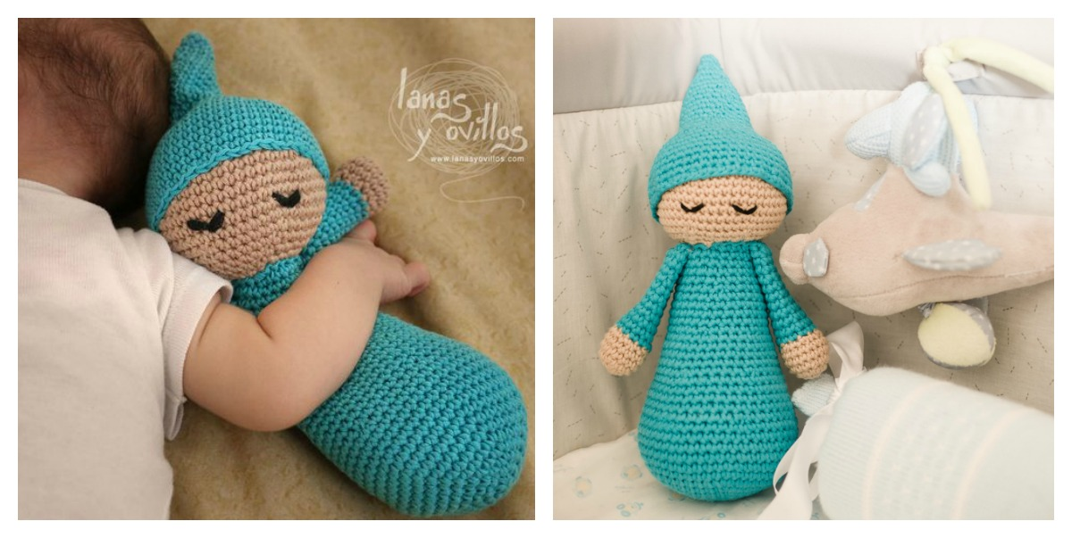 Free Amigurumi Mermaid Doll Pattern - The Thrifty Kiwi | 603x1200