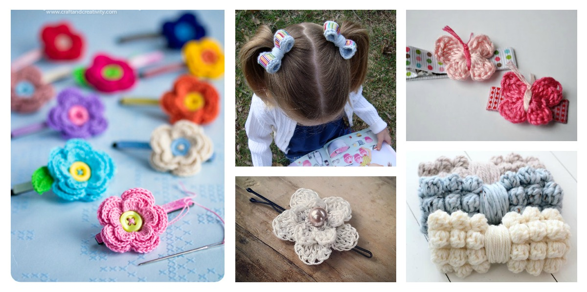 Hair Clip Free Crochet Patterns