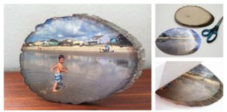 How To Transfer a Photo onto a Slice of Wood