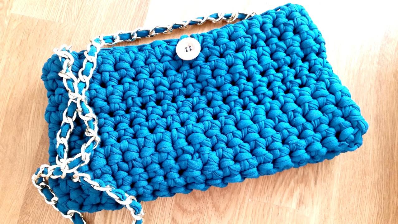 Crochet Patterns For T Shirt Yarn : T-Shirt Yarn Free Crochet Bag Crochet Patterns