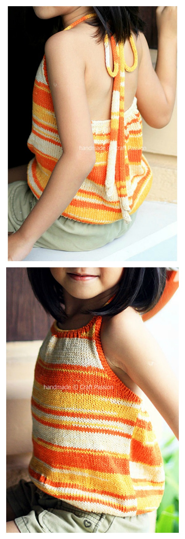 Kniited Halter Top for Girl Free Pattern