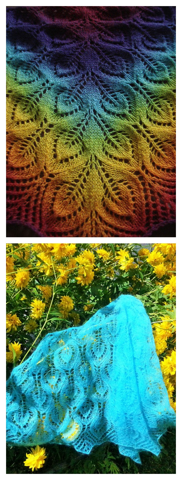 Spring Leaves Lace Shawl Free Knitting Patterns