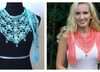 Pretty V Scarf FREE Crochet Patterns
