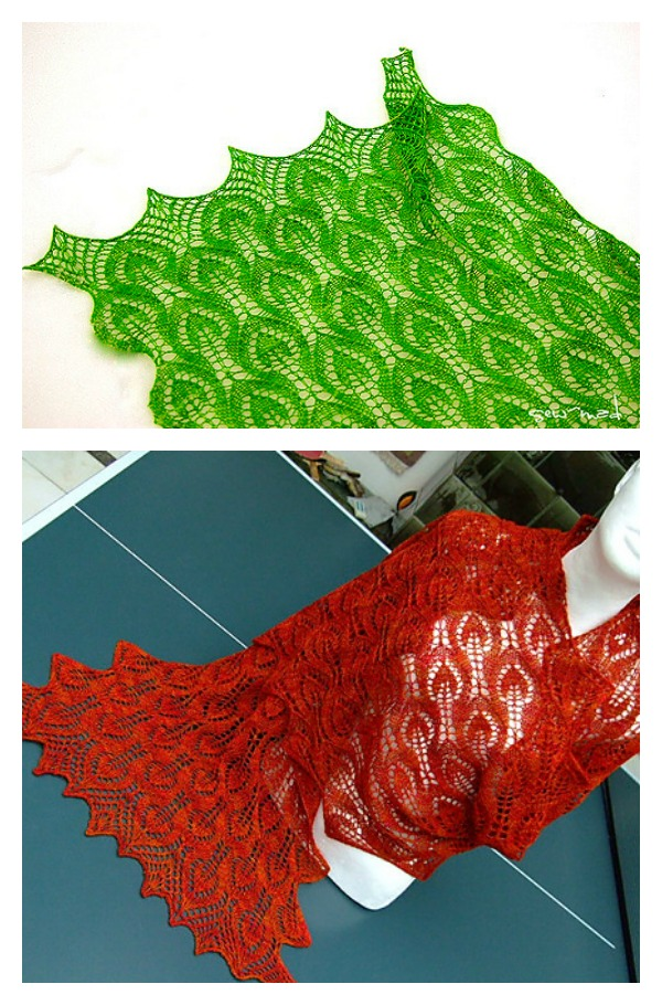 Spring Leaves Lace Shawl Free Knitting Pattern