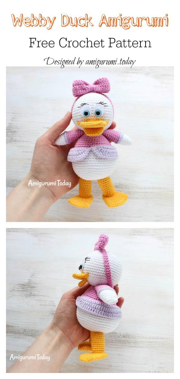 Amigurumi Duck - FREE Crochet Pattern / Tutorial ༺✿ƬⱤღ ... | 1260x600