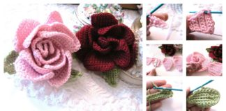 Beautiful Crochet Rose Flower Free Pattern