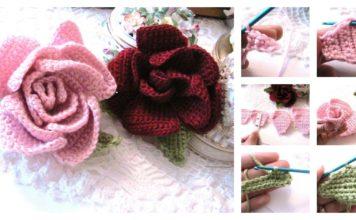 Beautiful Crochet Rose Flower Free Pattern