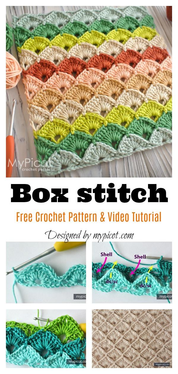 Box Stitch Free Crochet Pattern and Video Tutorial