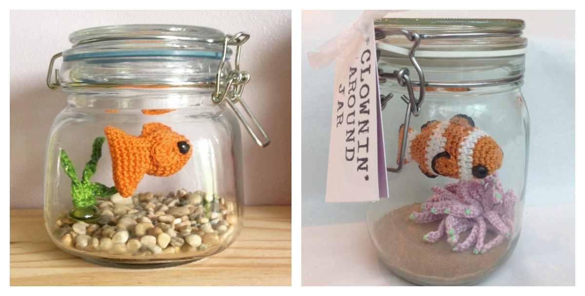 Fancy Crochet Goldfish Patterns {Video} | The WHOot | 608x1200