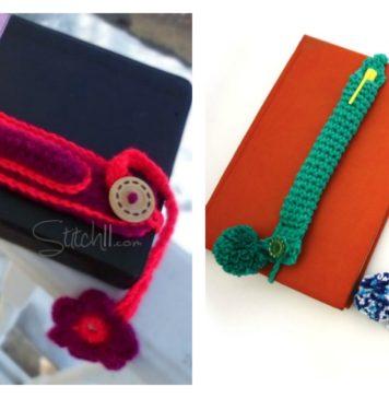 Crochet Pen Holder Bookmark Free Pattern