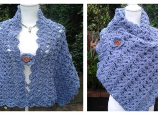 Crochet Lacy Shell Stitch Shawl Free Pattern