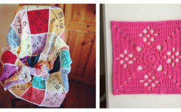 Crochet Victorian Lattice Square Blanket Free Pattern