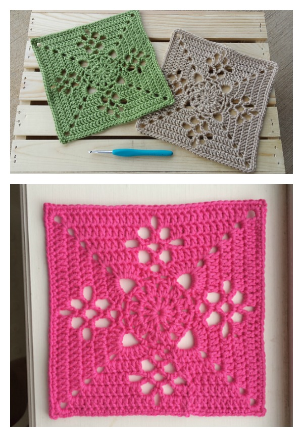 Crochet Victorian Lattice Square Free Pattern