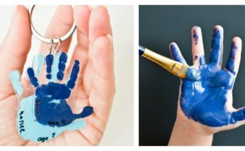 DIY Handprint Keychain