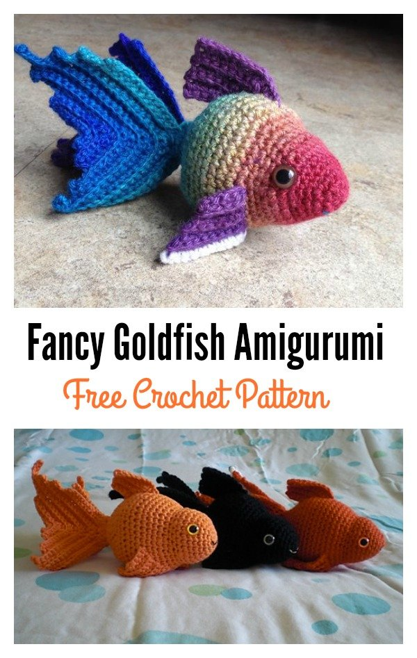Amigurumi Goldfish : Fish Amigurumi Free Patterns in a Jar