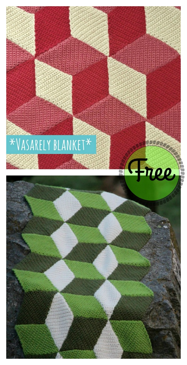 Free 3d Illusion Blanket Crochet Patterns