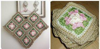 Free Flower Square Kids Poncho Crochet Pattern