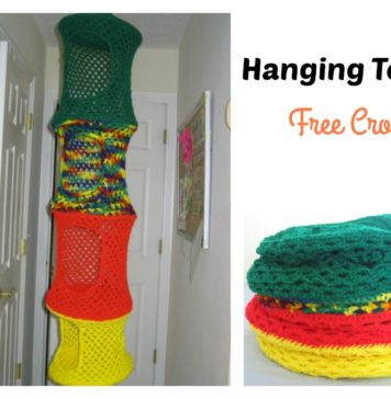 Hanging Toy Organizer Free Crochet Pattern