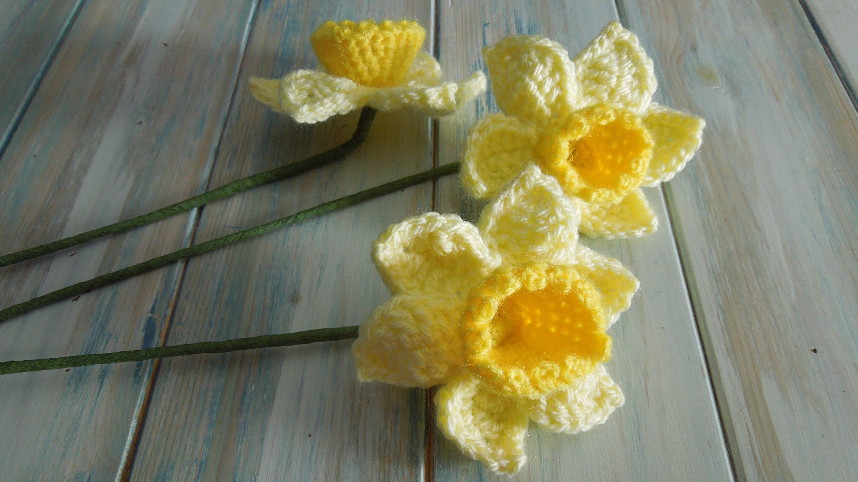 How to Crochet 3D Daffodil Flower Video Tutorial