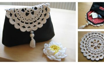 Leather & Crochet Doily Clutch Free Pattern and Tutorial