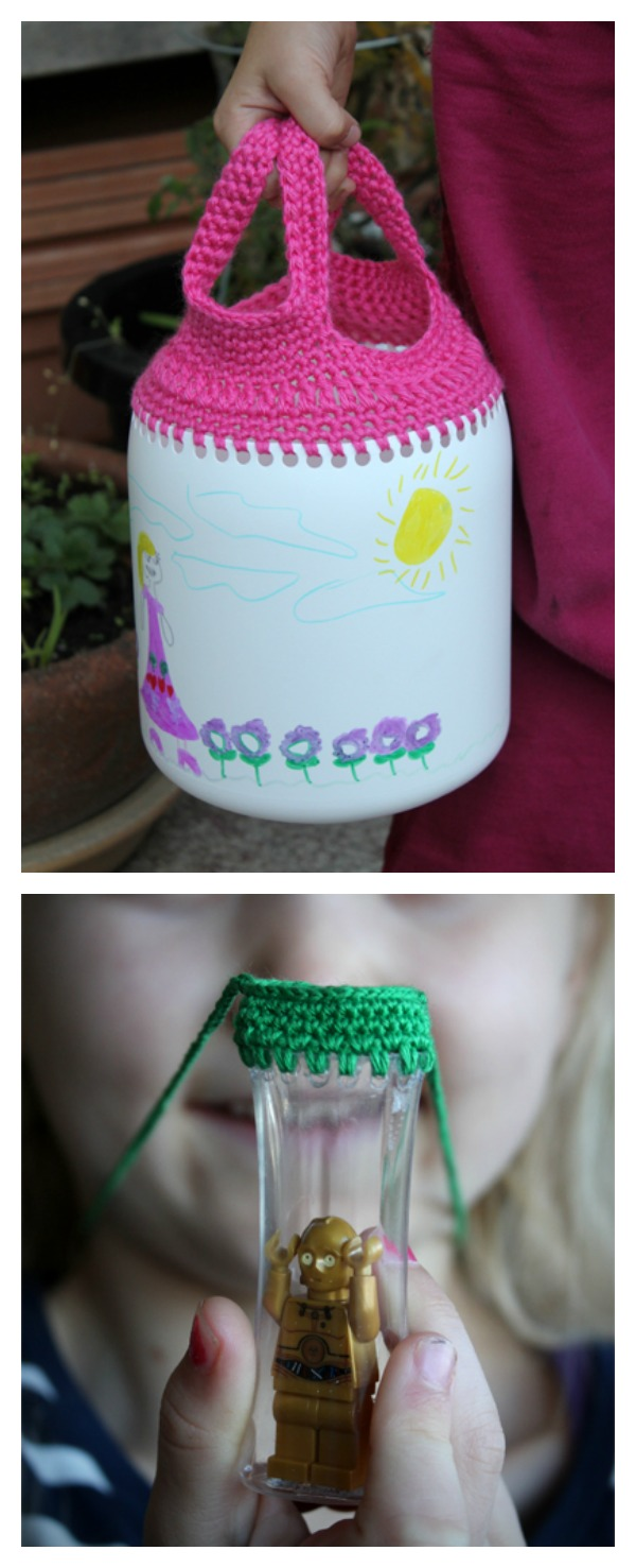 Recycled Containers Free Crochet Pattern