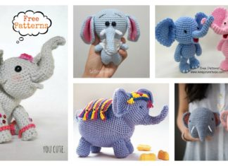 Adorable Crochet Elephant Amigurumi Free Patterns